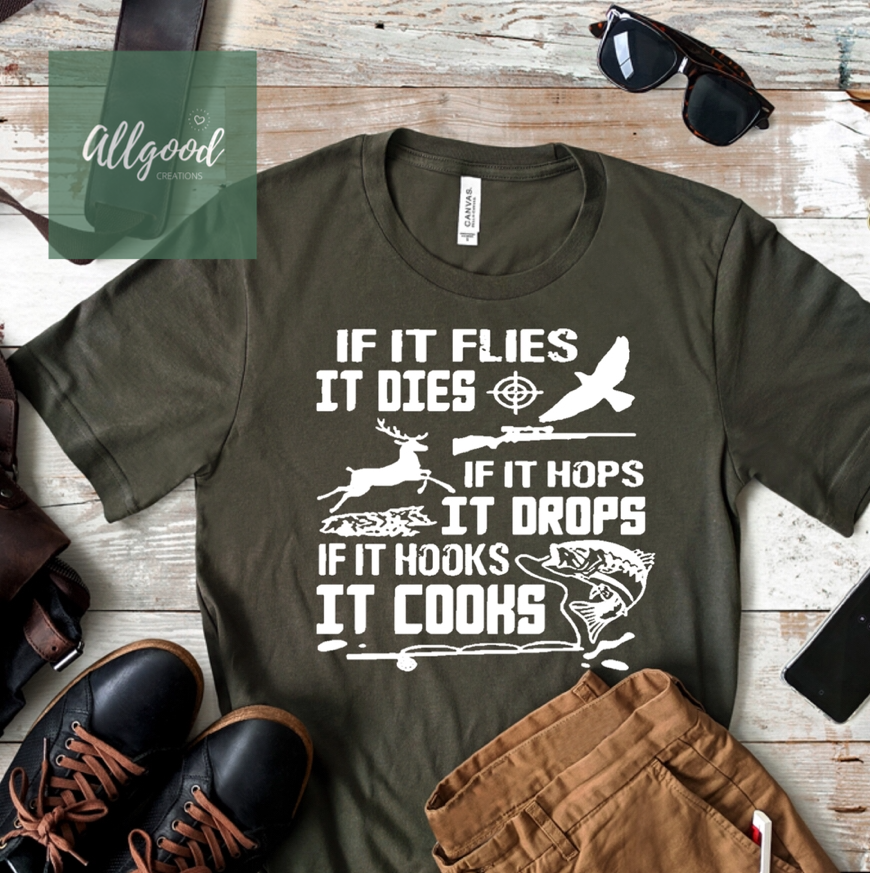 If it Flies T-Shirt - White Ink