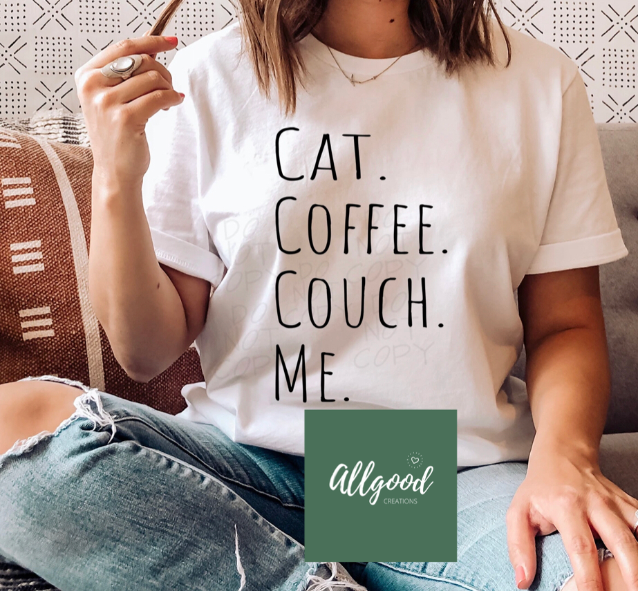 Cat Coffee Couch T-Shirt