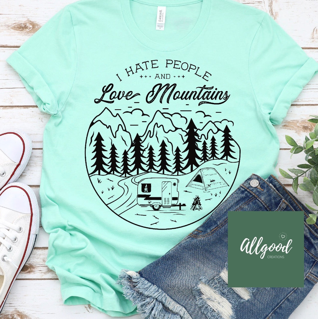 I Hate People & Love Mountains T-Shirt