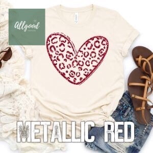 Red Leopard Heart T-Shirt