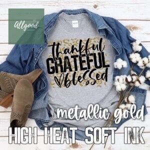 Thankful Grateful Blessed Leopard T-Shirt