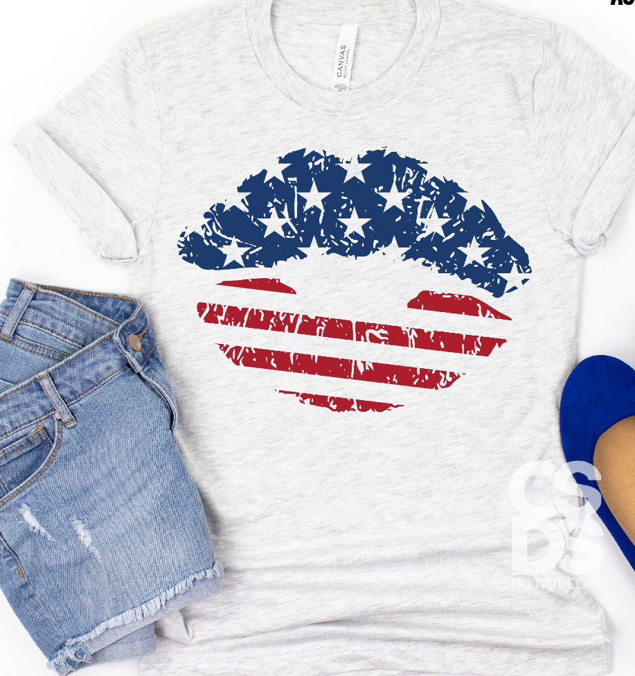 Patriotic Lips T-Shirt