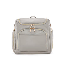 Load image into Gallery viewer, Vegan Leather Diaper Bag in Grey