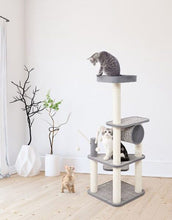 "Load image into Gallery viewer, Thaynards Greyson 50"" Cat Tower"