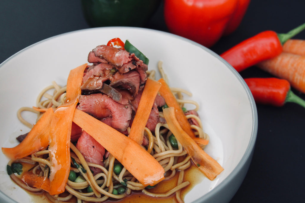 Seared Teriyaki Beef Noodles