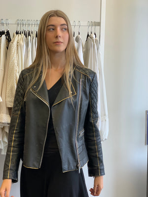 UP-CYCLED Leather Jacket Till Death do us part.