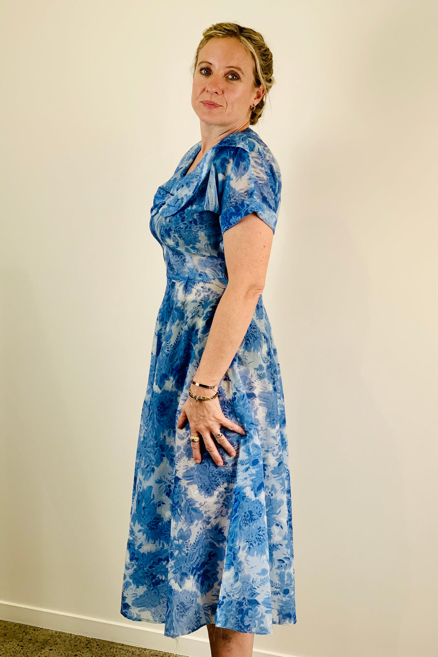 Vintage 1950s Organza Tea Dress Size 10