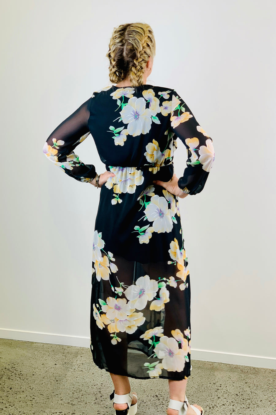 Vintage 90's Cross over Maxi Dress