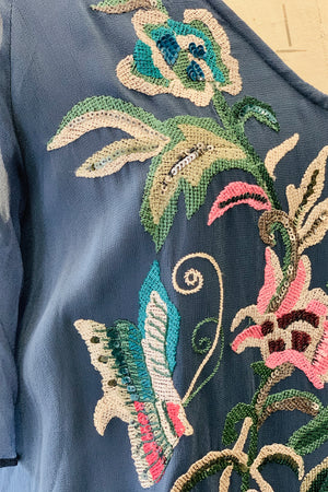 Ranna Gill Viscose embroidered Blouse