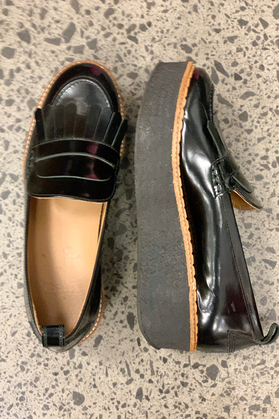Scarpa Leather Flamingo Platform Loafers - size 39. RRP was $449