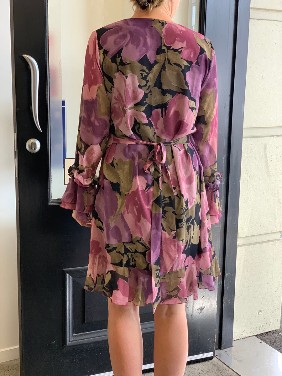 Ruby Floral Frill Me Dress - Size 10