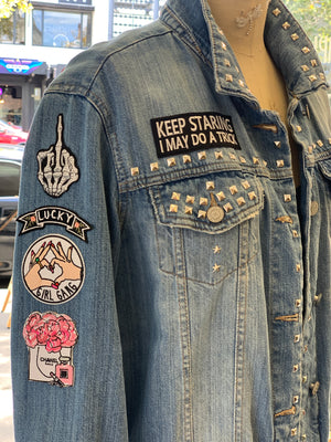 Nevertheless She Persisted Denim Jacket - Oversized