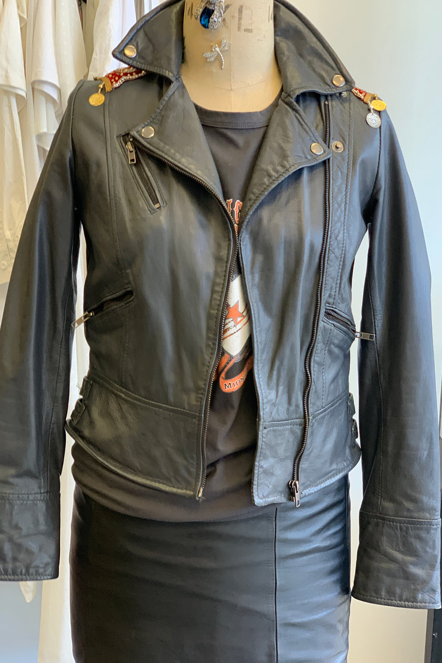 Cameo Upcycled Leather Jacket