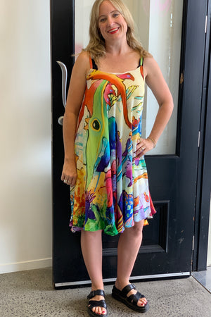 Misty Lang Printed Silk Sundress