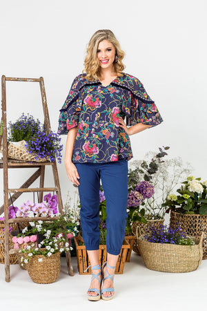 LI6555 Flamenco Blouse