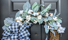 Load image into Gallery viewer, Welcome Lamb's Ear Grapevine Wreath - Custom Wreath