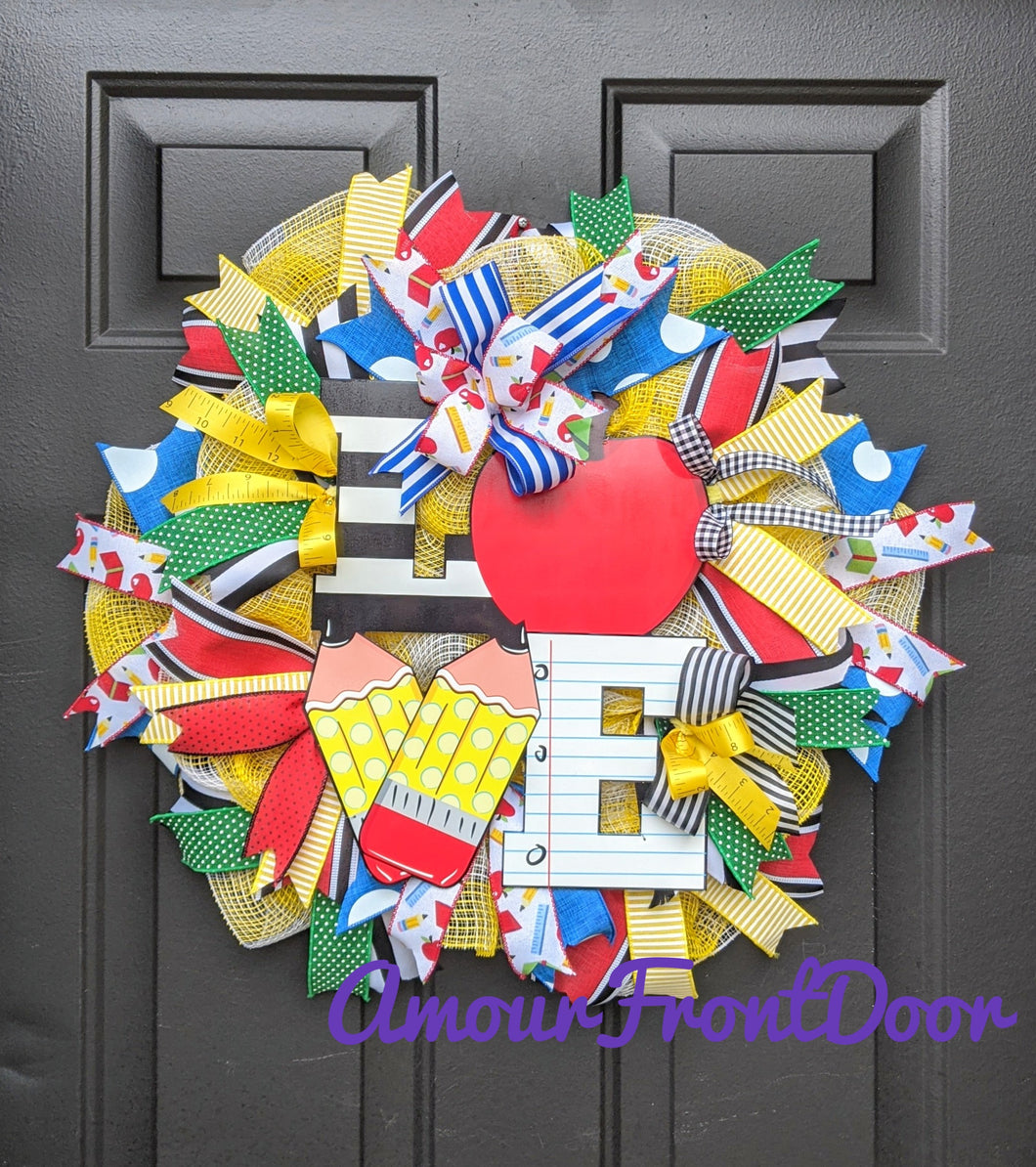 Teacher Wreath For Classroom Door - Classroom Wreath - Teacher Gift