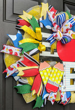 Load image into Gallery viewer, Teacher Wreath For Classroom Door - Classroom Wreath - Teacher Gift