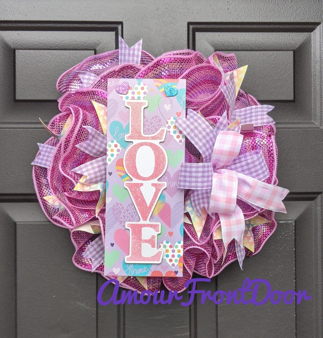 Playhouse Princess Pink Love Wreath