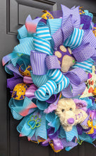 Load image into Gallery viewer, Live Love Rescue Wreath - Tye Dye Wreath - Plush Dog I Love You - Custom Order