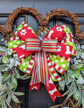 Load image into Gallery viewer, We Woof You A Merry Christmas - Christmas Dog Wreath - Paw Print Wreath - Grapevine Paw Wreath - Christmas Grapevine Wreath - Dog Wreath