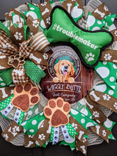 Load image into Gallery viewer, A True Friend Leaves Paw Prints On Your Heart, Paw Prints On Your Heart Wreath, Dog Wreath, Golden Retriever Wreath