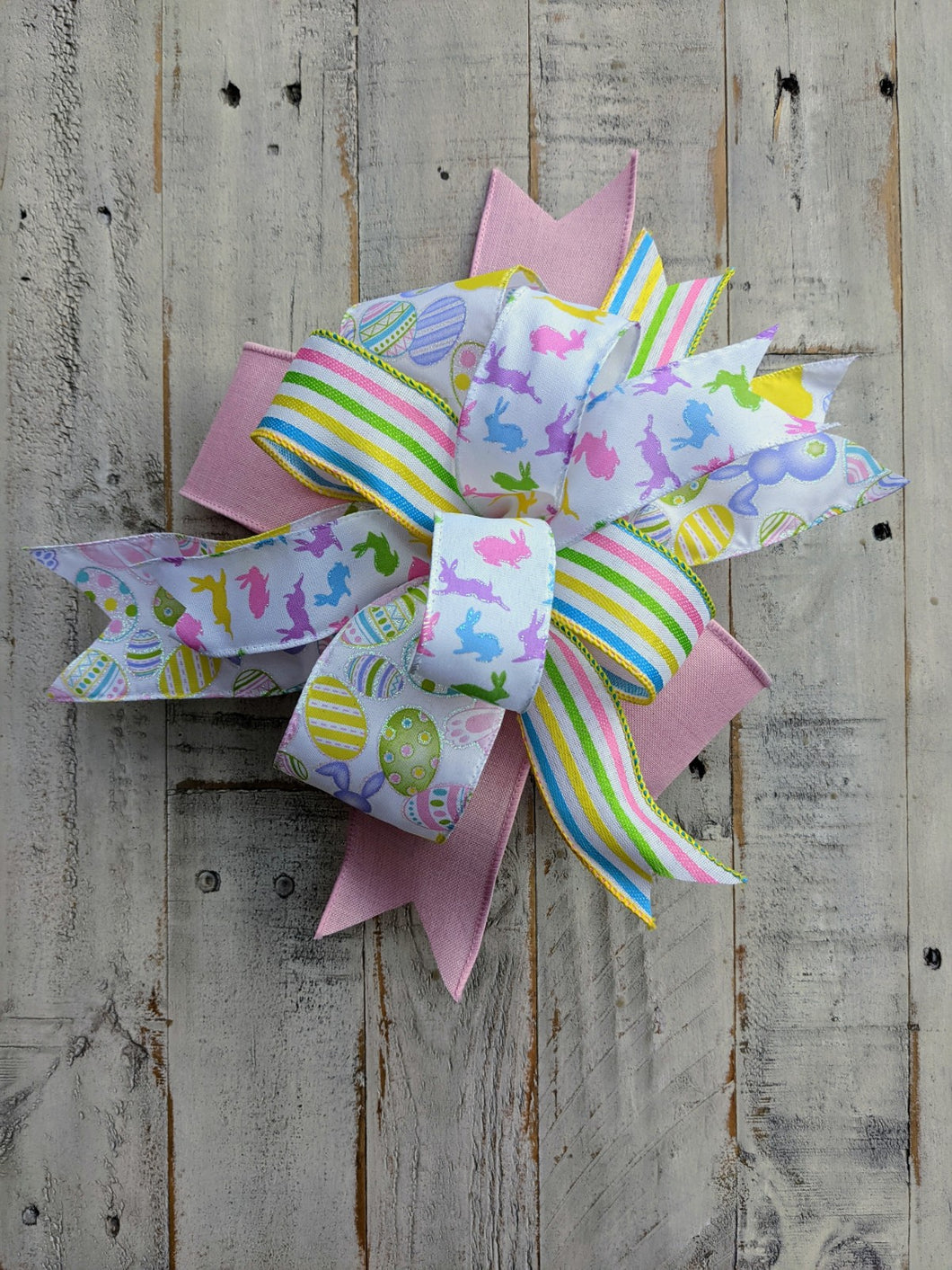 Easter Bunny Bow, Easter Bow, Easter Bow For Wreath, Easter Bunny For Wreath, Spring Easter Bow, Bow For Wreaths