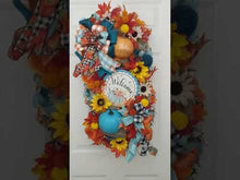 Load and play video in Gallery viewer, Vibrant Fall Welcome Door Swag - Custom Order
