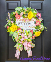 Load image into Gallery viewer, Welcome to Grandmas Wreath - Grandma Wreath - Grandma Gift - Welcome Wreath - Floral Wreath - Mom Wreath - Garden Wreath