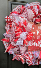 Load image into Gallery viewer, Have Yourself A Merry Little Christmas - Peppermint Wreath - Red And White Wreath - Traditional Christmas Wreath - Large Christmas Wreath