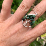 Emerald Tree of Life Ring