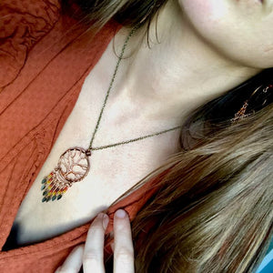 Tree of Life Dangle Necklace - Falling Leaves Collection