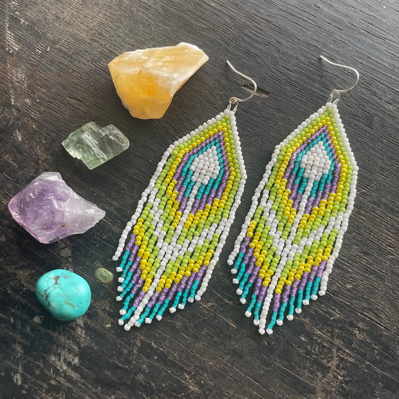 Florence Style Fringe Dangle Earrings