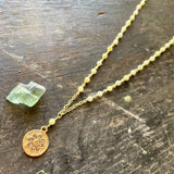 Green Flower Long Layering Necklace - ONE OF A KIND!