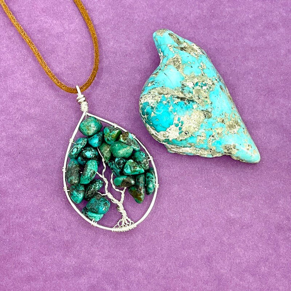 Turquoise Tree of Life Pendant (Large)