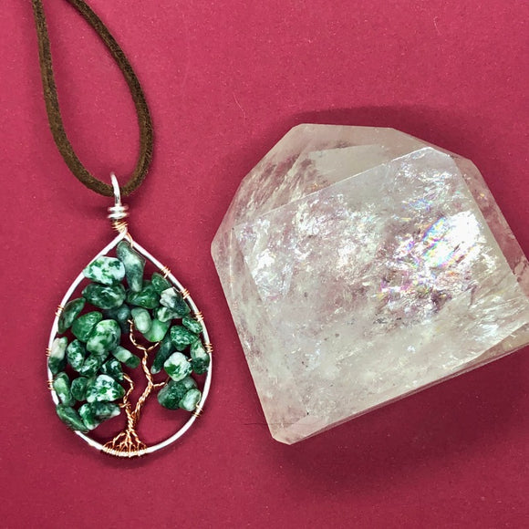 Tree Agate Tree of Life Pendant (Medium) - Silver with Copper ON SALE!