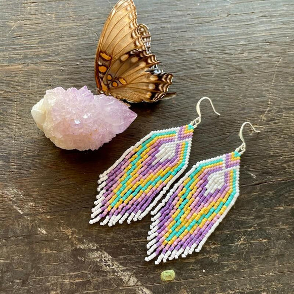 Maia Style Fringe Dangle Earrings