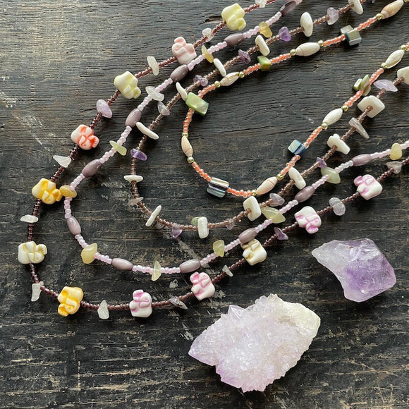 Necklaces from Mexico - Purple Collection