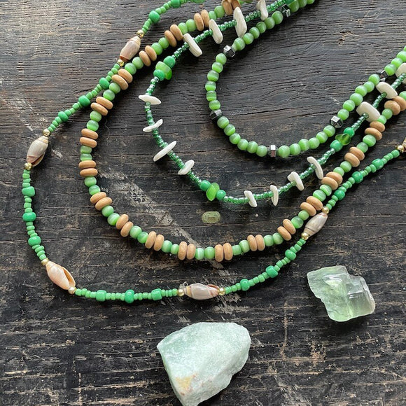 Necklaces from Mexico - Green Collection