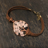 Rose Quartz Tree of Life Clasp Bracelet