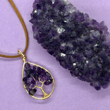 Amethyst Tree of Life Pendant (Small)