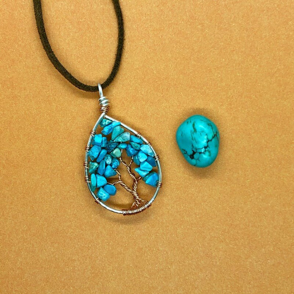 Turquoise Tree of Life Pendant (Small)