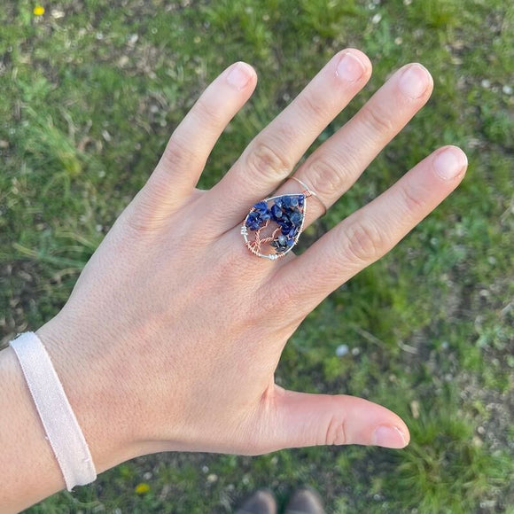 Sodalite Tree of Life Ring