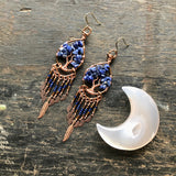 Sodalite Tree of Life Dangle Earrings (XS)