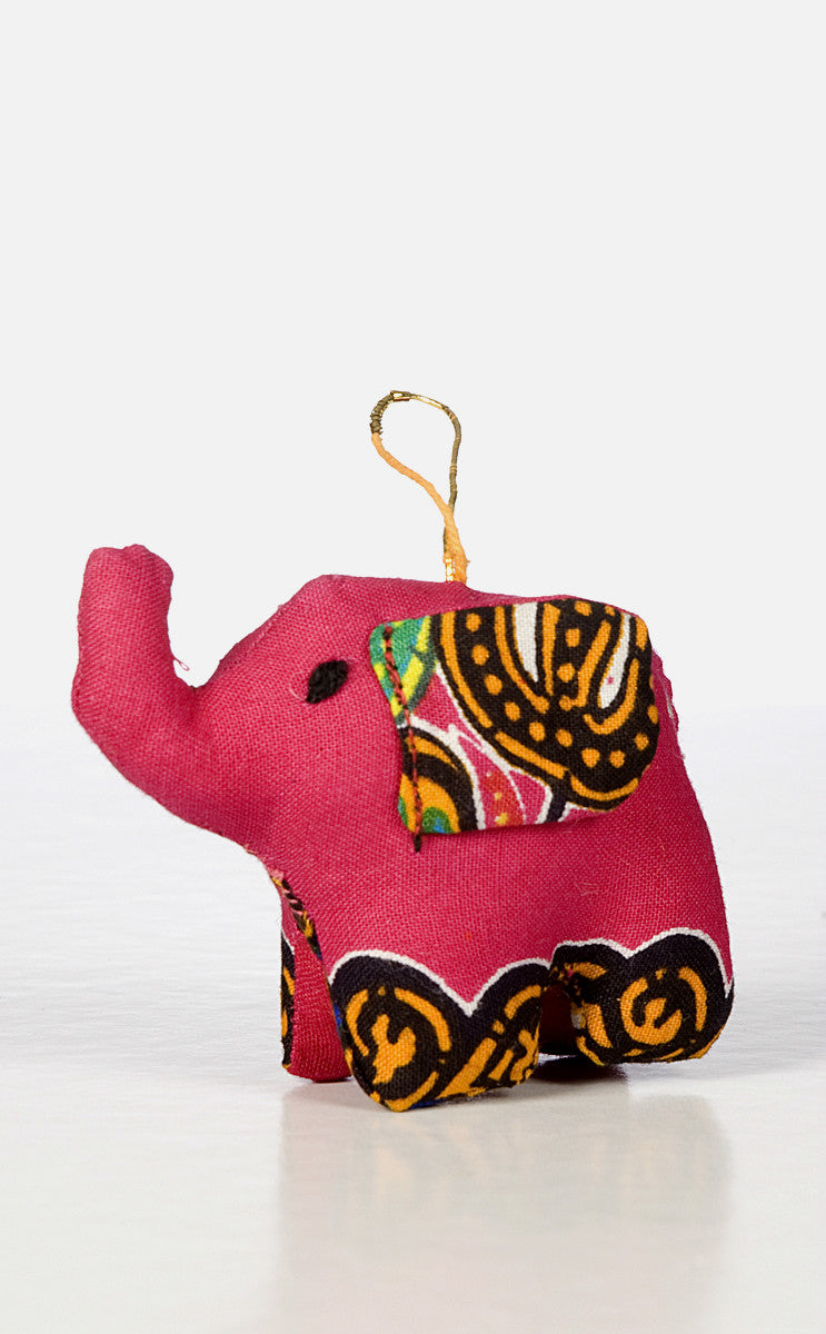 Elephant Ornament (colors vary)