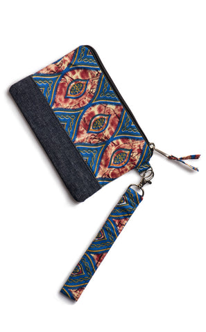 Denim Color Wrist Wallet