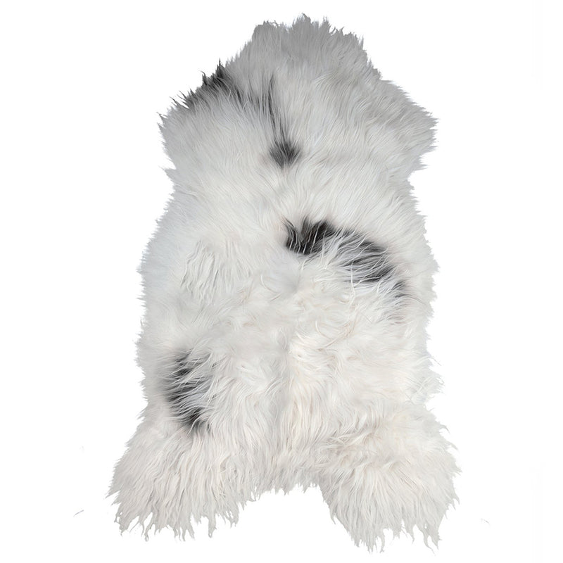 Icelandic Sheepskin Rug -Spotted Dalmation (White/Black)