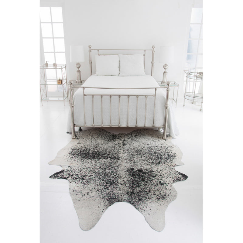 Light Salt & Pepper Natural Cowhide Rug