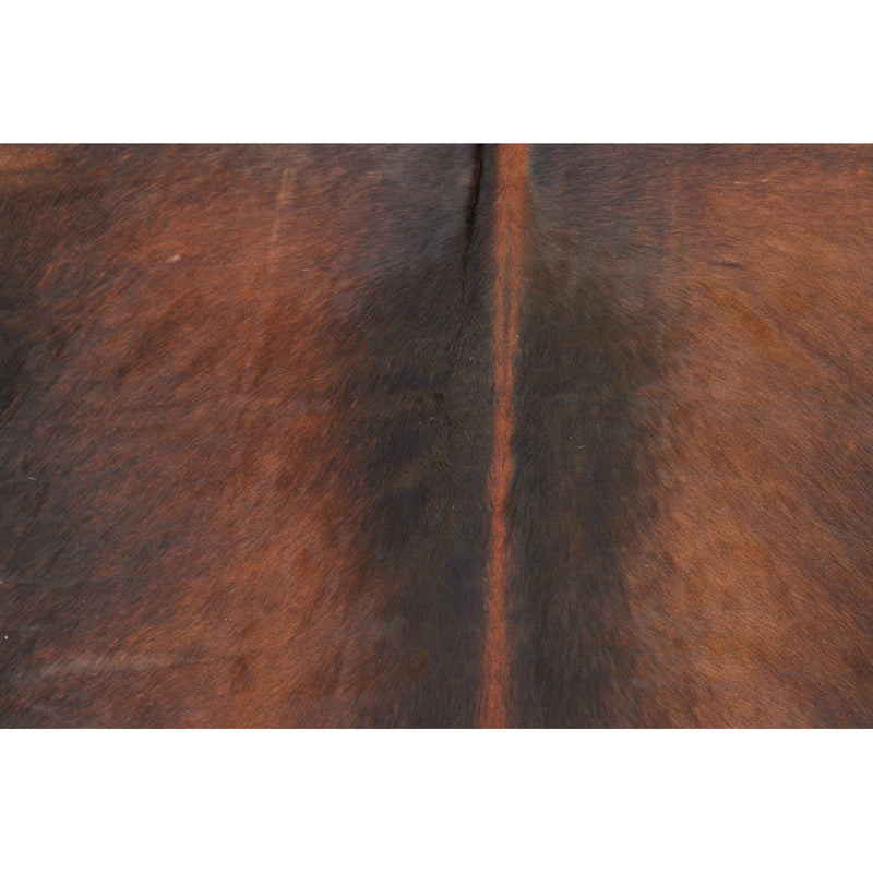 Reddish Brown White Spine Natural Cowhide Rug