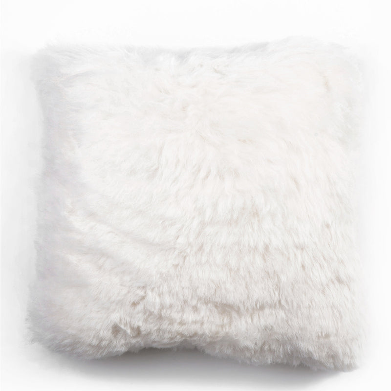 Short Haired Icelandic Sheepskin 50cm Cushion - White